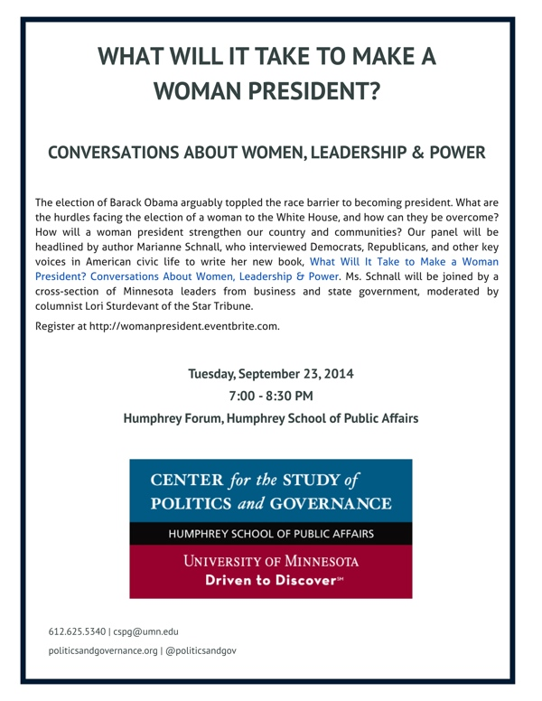 Women Leadership Flyer